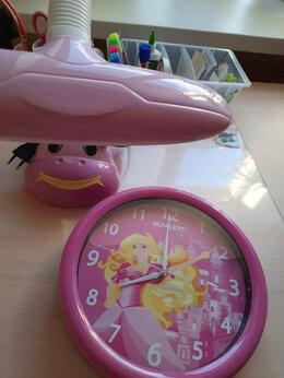 Часы настенные - Часы и лампа в детскую комнату девочки, 0