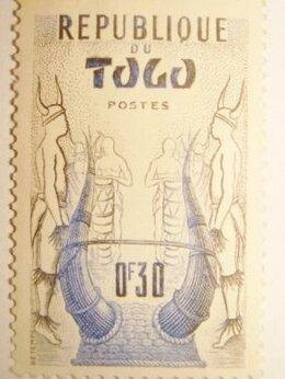 Марки - Марка Французская колония Африка Того 1950, 0