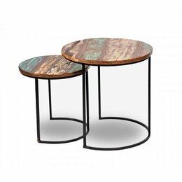 """Столы и столики - Приставной столик круглый разноцветный """"Инду…, 0"""