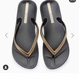 Шлепанцы - Сланцы новые Ipanema Бразилия шлепанцы черные резина золото размер 39 сандали, 0