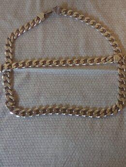 Цепи - Серебряная цепь и браслет.Италия, 0