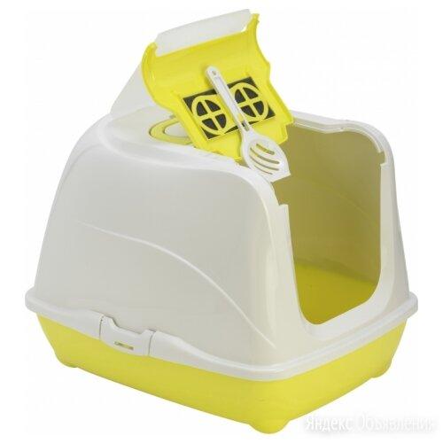 Moderna Flip Cat (50x39x37h см) Желтый Био-туалет с совком для кошек по цене 1623₽ - Туалеты и аксессуары , фото 0