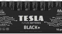 Батарейки - Батарейки Tesla AAA BLACK+ 10 MULTIPACK (LR03 / SH, 0