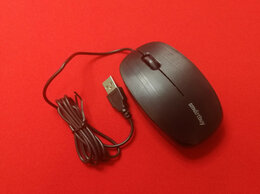 Клавиатуры - Мышь проводная SmartBuy ONE 214-K USB черная, 0