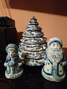 Статуэтки и фигурки - Елка и дед мороз со снегурочкой, 0
