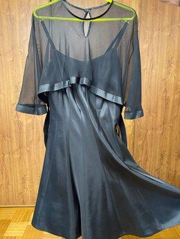 Платья - Вечернее коктейльное платье с шифоновой накидкой, 0