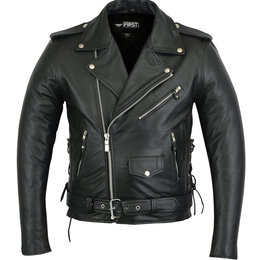 Куртки - First косуха 770 BM мужская натуральная кожа, 0