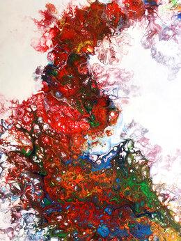 Картины, постеры, гобелены, панно - Картина 40 х 60 см. Флюид арт. Оригинал. Акрил.…, 0