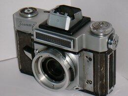 Пленочные фотоаппараты - Фотоаппарат Зенит 6. № 6400151 Сделано в СССР 1964, 0