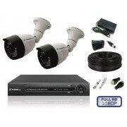 Камеры видеонаблюдения - Комплект уличного видеонаблюдения на 2 камеры full, 0