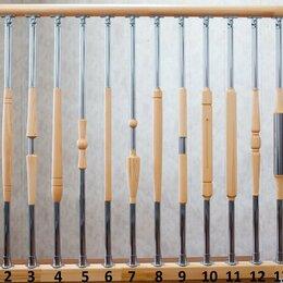 Лестницы и элементы лестниц - Комбинированные балясины ясень хром, 0
