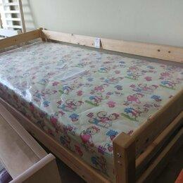 Кроватки - Кровать с бортиком из массива + матрас, 0