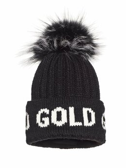 Головные уборы - Шапка GOLDBERGH Hodd Real Raccoon Fur Black ж., 0