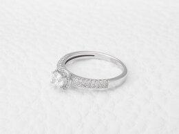 Кольца и перстни - Кольцо с 81 бриллиантами из белого золота, 0
