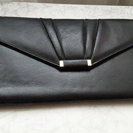 Клатчи - Сумка клатч конверт винтаж ретро Англия черная, 0