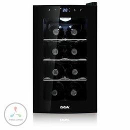 Винные шкафы - Винный шкаф BBK BWR-080 черный, 0