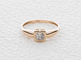 Кольца и перстни - Кольцо с бриллиантом из комбинированного золота, 0