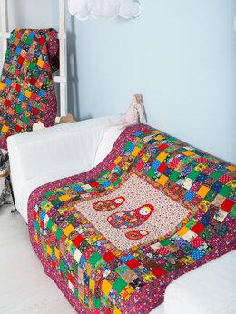 """Покрывала, подушки, одеяла - Одеяло детское на х/б ватине  """"ТРИ МАТРЁШКИ""""…, 0"""
