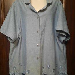 Блузки и кофточки - Блуза 58-60. Легкий деним. Тайланд, 0