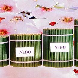 Декоративные свечи - Свечи восковые медовые церковные зелёные, 0