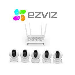 Камеры видеонаблюдения - Комплект на 5камер ezviz C6CN+Vault Plus, 0