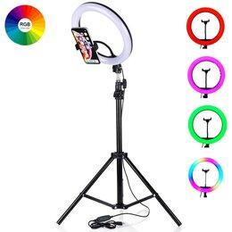 Фотовспышки - Кольцевая лампа со штативом 32 см, разноцветный…, 0