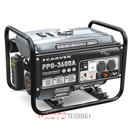 Электрогенераторы и станции - Генератор бензиновый Carver PPG-3600A, 0