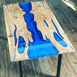Столы и столики - Журнальный столик из слэба с эпоксидной смолой, 0