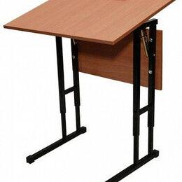 Мебель для учреждений - Парта одноместная с регулируемым углом наклона столешницы, 0