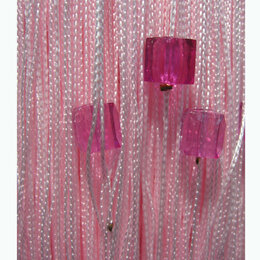 Шторы - Готовые нитяные шторы Portgallery однотонные с кубиками тяжелые, 0