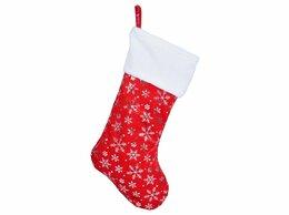 Новогодний декор и аксессуары - Носок для подарков ВОЛШЕБНЫЕ СНЕЖИНКИ, 42 см,…, 0