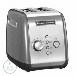 Сэндвичницы и приборы для выпечки - Тостер KitchenAid 5KMT221ECU, серебристый, 0