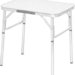 Походная мебель - Стол складной алюминиевый, столешница МДФ 600*450*250/590 Camping// Palisad, 0