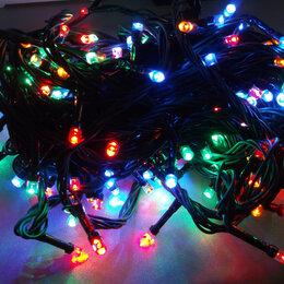 Лампочки - Гирлянда 180 ламп (черные провода), 0