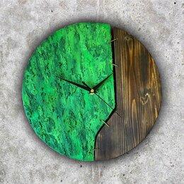 Часы настенные - Настенные часы деревянные с акрилом и текстурной…, 0