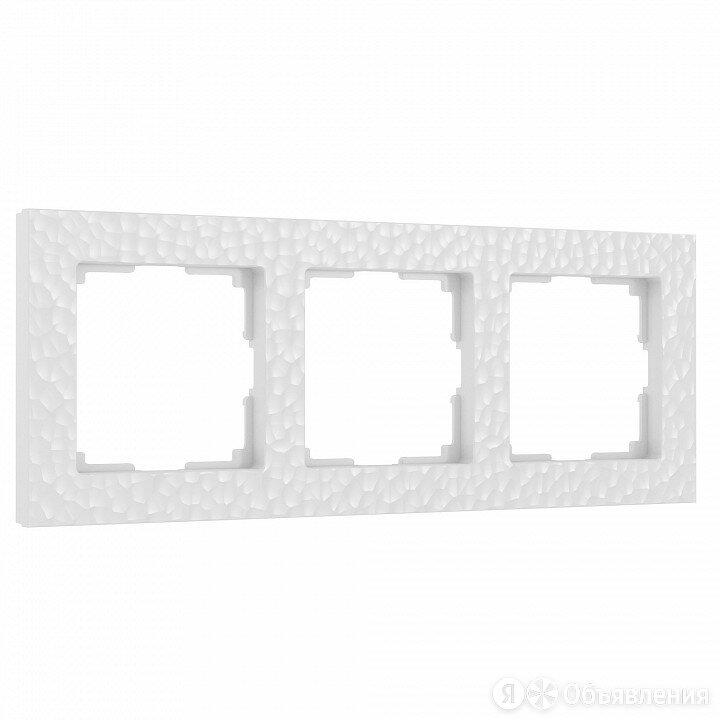 Рамка на 3 поста Werkel Hammer W0032401 (белый) по цене 611₽ - Электроустановочные изделия, фото 0