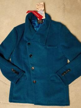 Пальто - Новое Легкое Полу пальто Бирюзовое Косой борт, 0