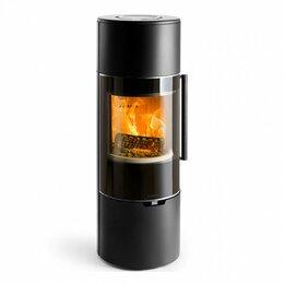 Камины и печи - Печь K900, высокая, черная, хромированная окантовка стекла (Keddy), 0