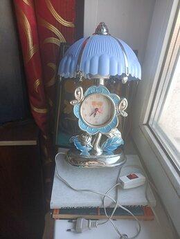 Часы настольные и каминные - Антикварные настольные часы-светильник в стиле…, 0
