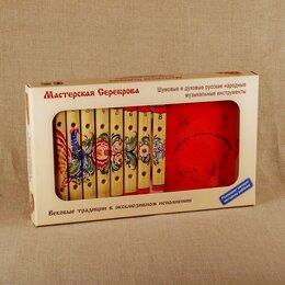Ударные установки и инструменты - Мастерская Сереброва (к1-кс-08) Ксилофон диатонический 8 пластин с росписью, 0