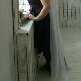 Платья - Вечернее/выпускное фиолетовое платье р.48, 0