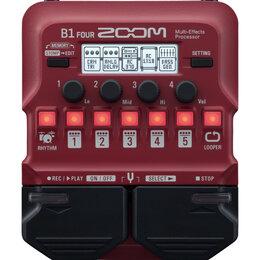 Процессоры и педали эффектов - ZOOM B1 FOUR Процессор мультиэффектов для бас-гитары, 0