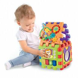 Развивающие игрушки - Развивающий куб,бизиборд,сортер, конструктор, 0