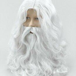 Карнавальные и театральные костюмы - Парик, борода Волшебника Мороза, 0