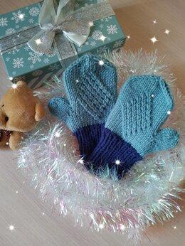 Перчатки и варежки - Вязаные детские варежки (ручной работы) , 0