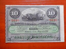 Банкноты - КУБА 10 песо 1896 г.  PLATA, 0