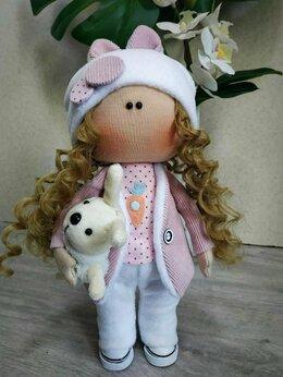 Куклы и пупсы - Интерьерная текстильная куколка Зайка, 0