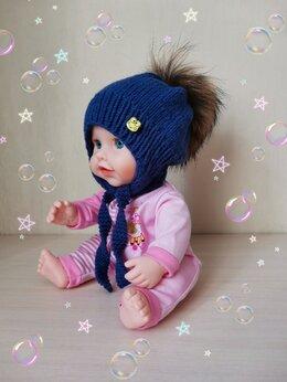 Головные уборы - Вязаная детская шапочка 0-3 месяца(ручная работа) , 0