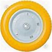Обода и велосипедные колёса в сборе - Колесо PU 1301-16 полиуретан «ЖЕЛТОЕ» (3,00-8, диам.втулки-16), 0