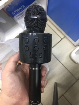 Микрофоны - Bluetooth караоке микрофон колонка , 0